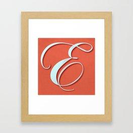 The Letter E  Framed Art Print