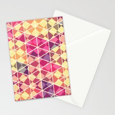 Love triangle pattern art Stationery Cards