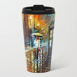 Tardis And Umbrella girl Travel Mug