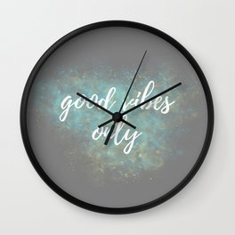 Good Vibes - Blue Yellow Wall Clock