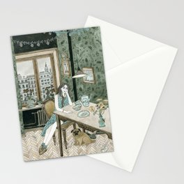 At home with a pug Stationery Cards