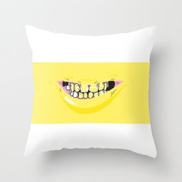 Le Rire Jaune. Throw Pillow