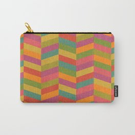 Chevron Gelati (textured geometric pattern) Carry-All Pouch
