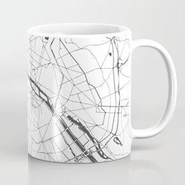 Paris France Minimal Street Map - Gray and White Coffee Mug