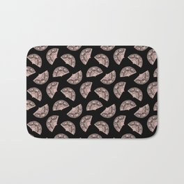 fans all over black and white Bath Mat