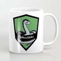 slytherin Mugs featuring Slytherin Bitches! by Emma Ehrling