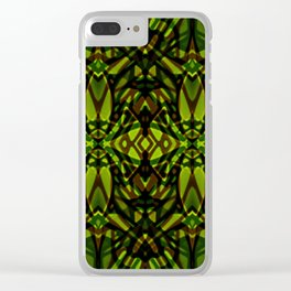 Fractal Art Stained Glass G313 Clear iPhone Case