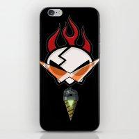 gurren lagann iPhone & iPod Skins featuring All for one [Gurren Lagann] by Juliet García