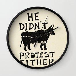 Go Vegan Wall Clock