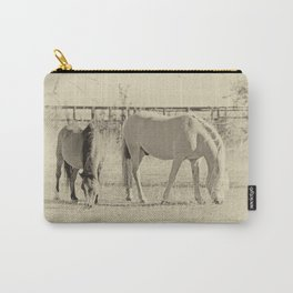 Horses on pasture Carry-All Pouch