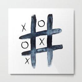 Noughts & crosses Metal Print
