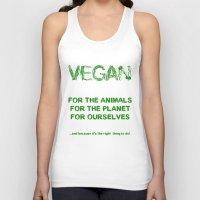 vegan Tank Tops featuring Why Vegan? by VegArt