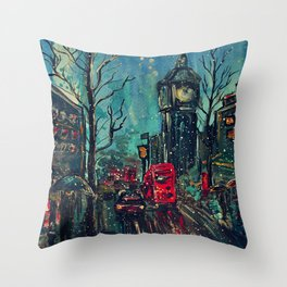 Impressionistic London  Throw Pillow