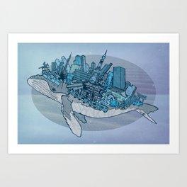 Tokyo whale Art Print