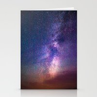 milky way Stationery Cards featuring Milky Way by Lotus Effects
