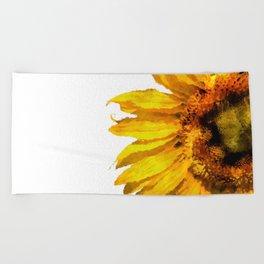 Simply a sunflower Beach Towel