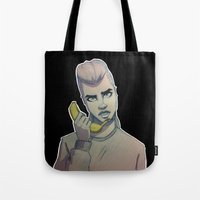 cara delevingne Tote Bags featuring Cara Delevingne by Maze-of-Pines