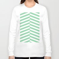 mint Long Sleeve T-shirts featuring mint by Amber Gilded