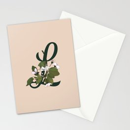 Letter L Stationery Cards