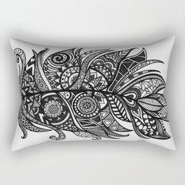 Zen Tangle Feather Rectangular Pillow
