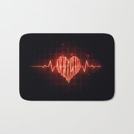 Heartbeat Bath Mat