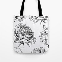 roses Tote Bags featuring Roses  by Caitlin Workman