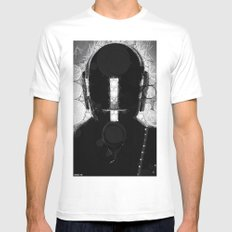 duft_punk_1 MEDIUM Mens Fitted Tee White
