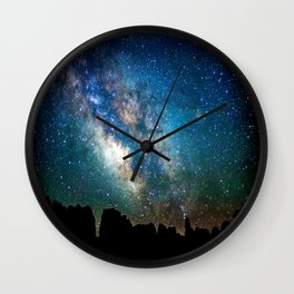 The Milky Way Mountains Wall Clock