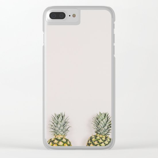 Pineapples in a Row Clear iPhone Case