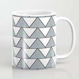 Audrey and Frank - Modern Envelopes Stripe (Blue) Coffee Mug