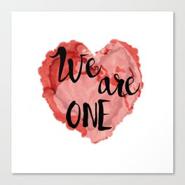 We Are One -Global Community Canvas Print