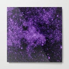 gaLaxy. Dark Purple Stars Metal Print