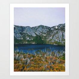 Crater Lake, Tasmania Art Print