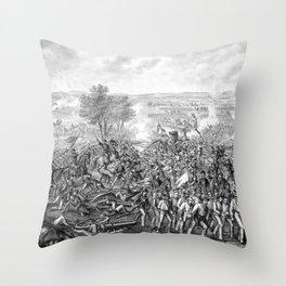 The Battle of Gettysburg Throw Pillow