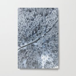 Snow Forest Printable, White Forest Digital Print, Winter Forest Poster, Winter Snow Wall Art, Fores Metal Print