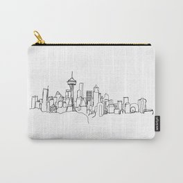 Seattle Skyline Drawing Carry-All Pouch
