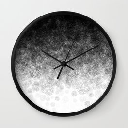 Disappearing Fog - Black and White Gradient Wall Clock