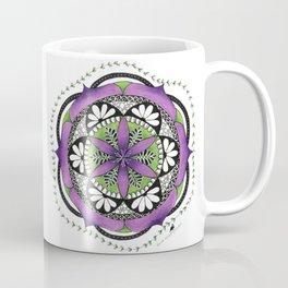 Purple Flower Mandala Coffee Mug