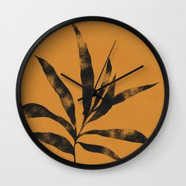 Olive Branch 01 - Ink & Marigold Wall Clock