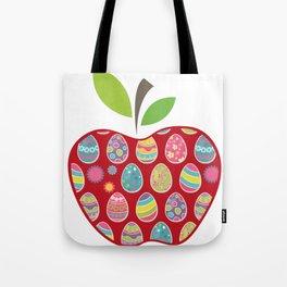 Easter Egg Hunt In Apple Funny Teacher Tote Bag