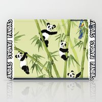 pandas iPad Cases featuring Pandas by Volha