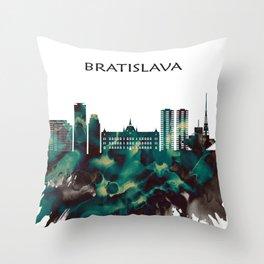 Bratislava Skyline Throw Pillow