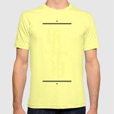 Type Foundry - Cambria Bold Italic Mens Fitted Tee Lemon SMALL