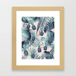 Tropical Pineapple Jungle Geo #2 #tropical #summer #decor #art #society6 Framed Art Print