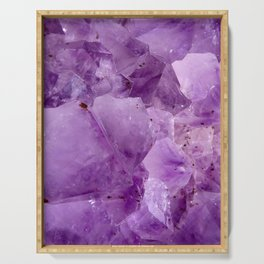 Violet Kryptonite Crystals Serving Tray