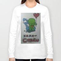 cthulu Long Sleeve T-shirts featuring Cthulu  by Giddie_Guru