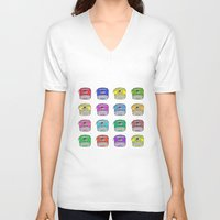 write V-neck T-shirts featuring Write on by andy_panda_