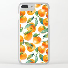 Mandarins With Leaves Clear iPhone Case