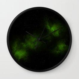 Sea Green Stars Wall Clock