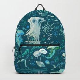 Aqua pattern Backpack